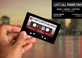 DJ / Entertainment Business Cards