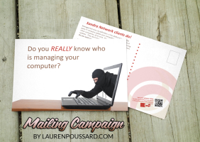 IT Training Postcard Mailer