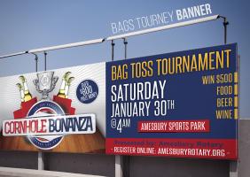 Bag Toss Tournament Banner