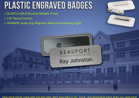 Plastic Engraved Name Badges