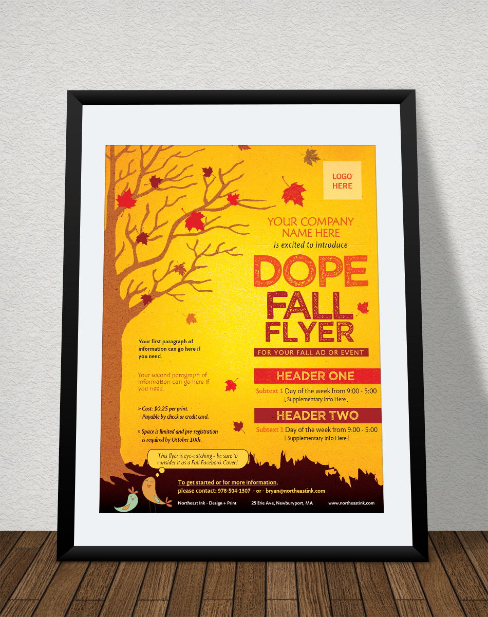 Fall Themed Flyer - Northeast Ink