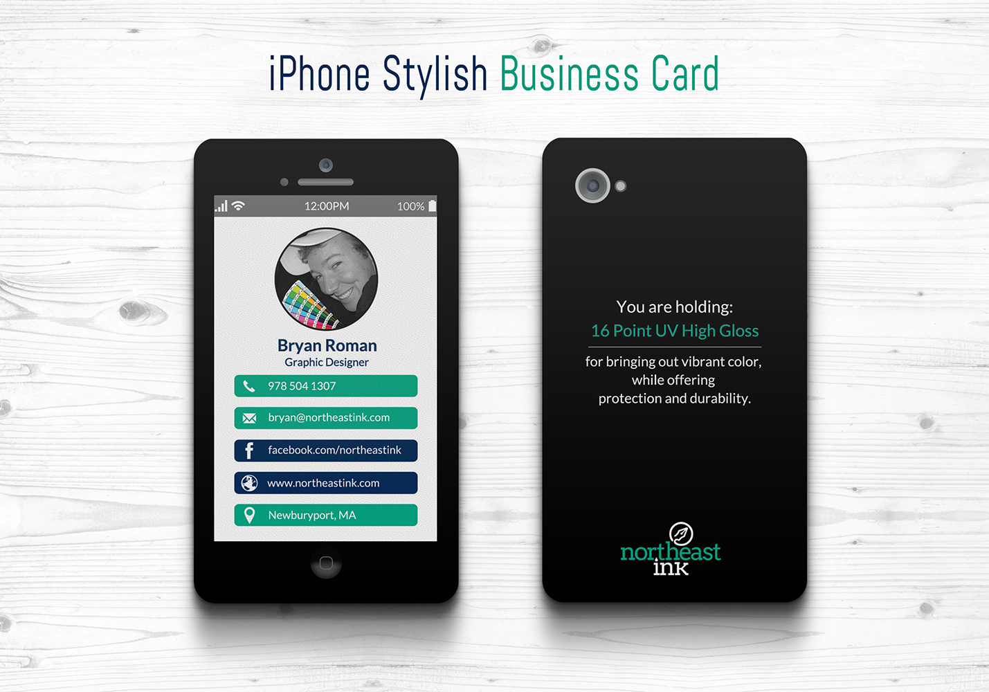 iPhone Themed Business Card - Northeast Ink