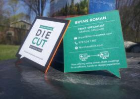 Die-Cut Business Card