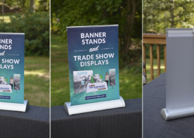 Mini Retractable Banner Stand
