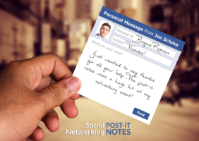 Social Networking Post-It Note