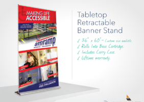 Table-Top Banner Stand