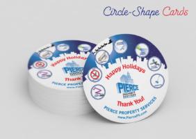 Holiday Circle-Shape Cards