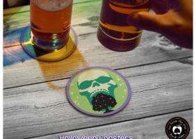 Halloween Cider Coasters