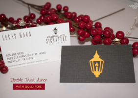 Extra Thick Linen Gold Foil Real Estate Business Cards