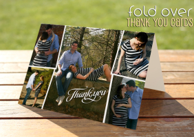 Fold-Over Thank You Cards