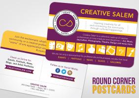 Round Corner Postcards
