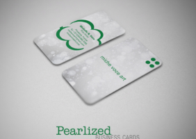Pearlized Business Cards