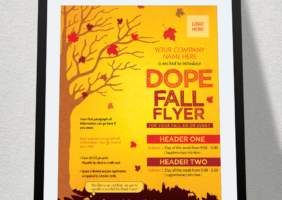 Fall Themed Flyer